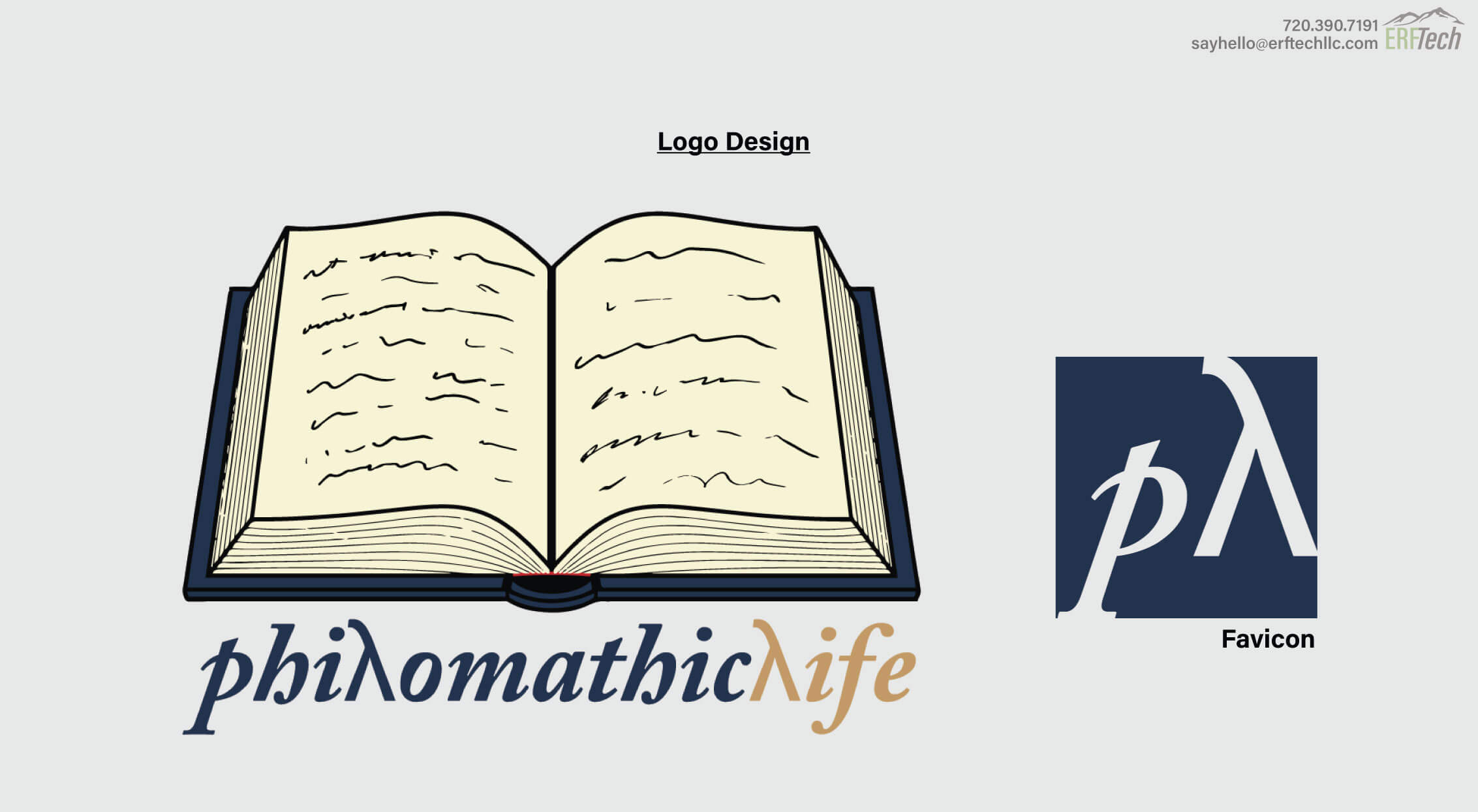 Logo Design for Philomathic Life a blogger in Denver, CO