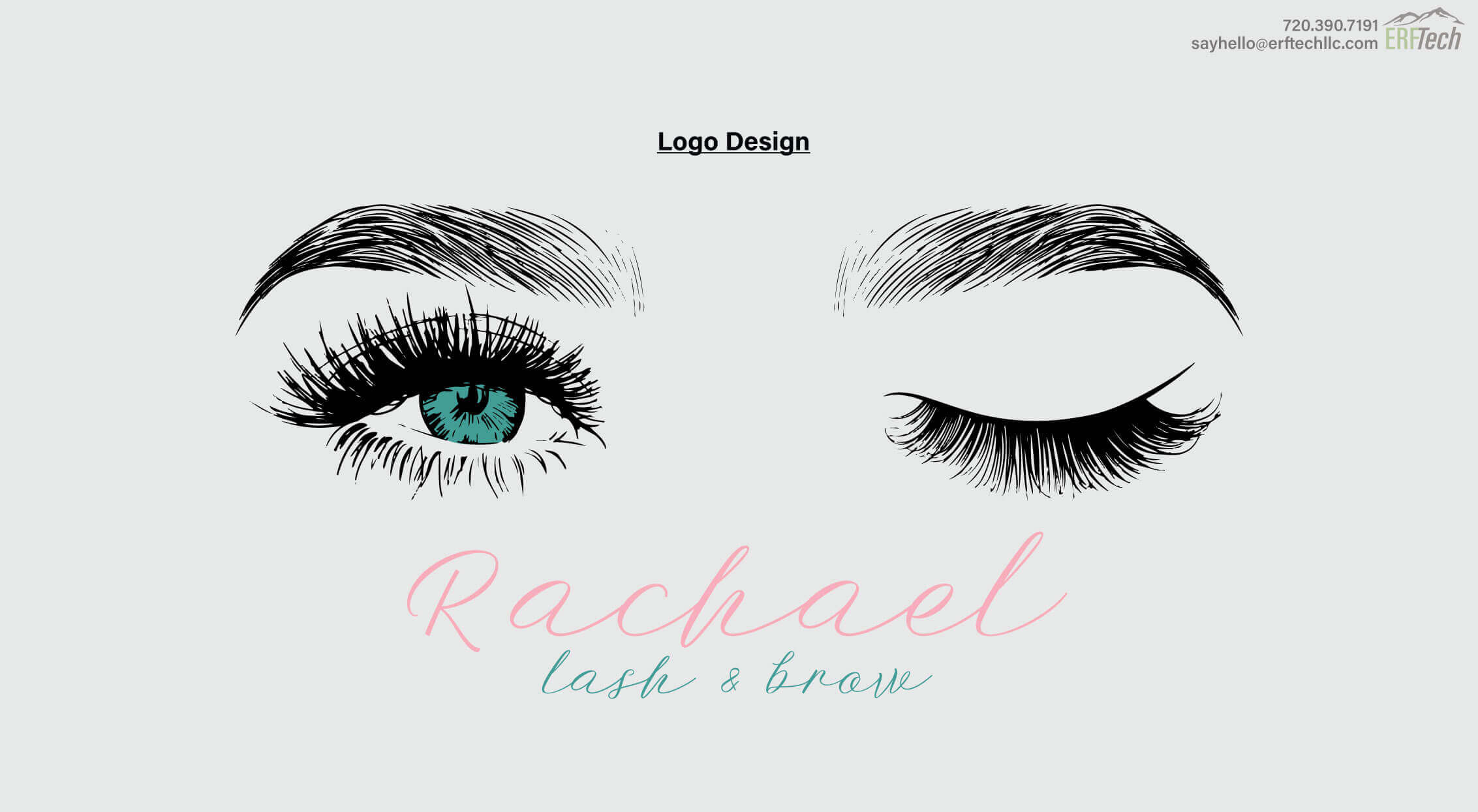 Logo Design for Rachael Lash& Brow in Denver, CO