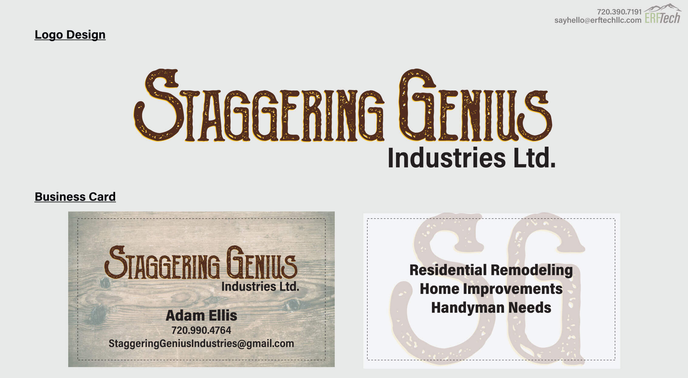 Full-Service Marketing for Staggering Genius in Littleton, CO