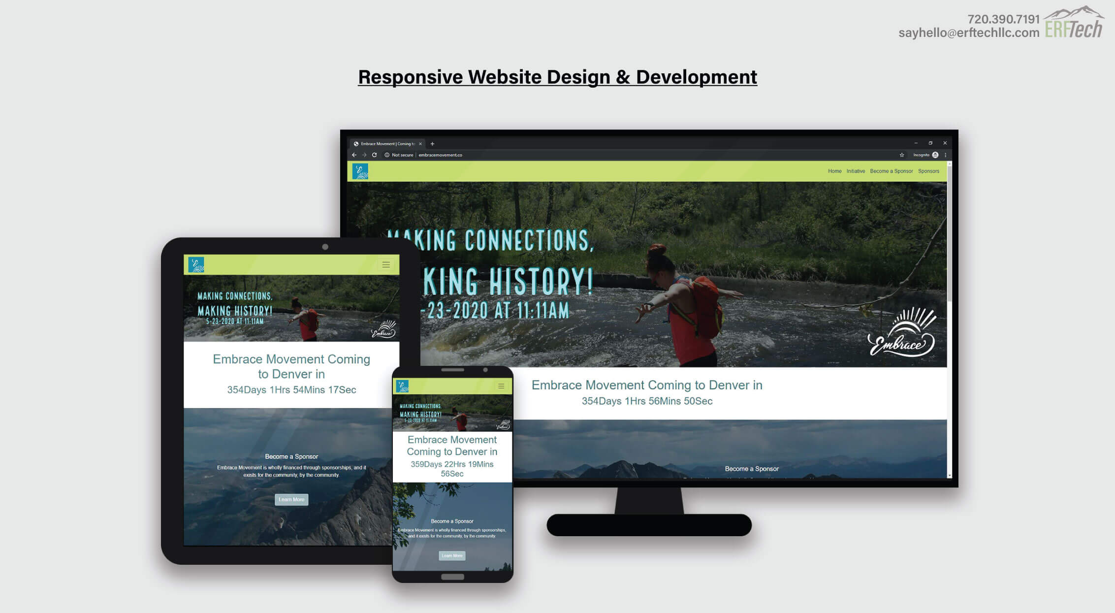 Website Management for Embrace in Denver, CO