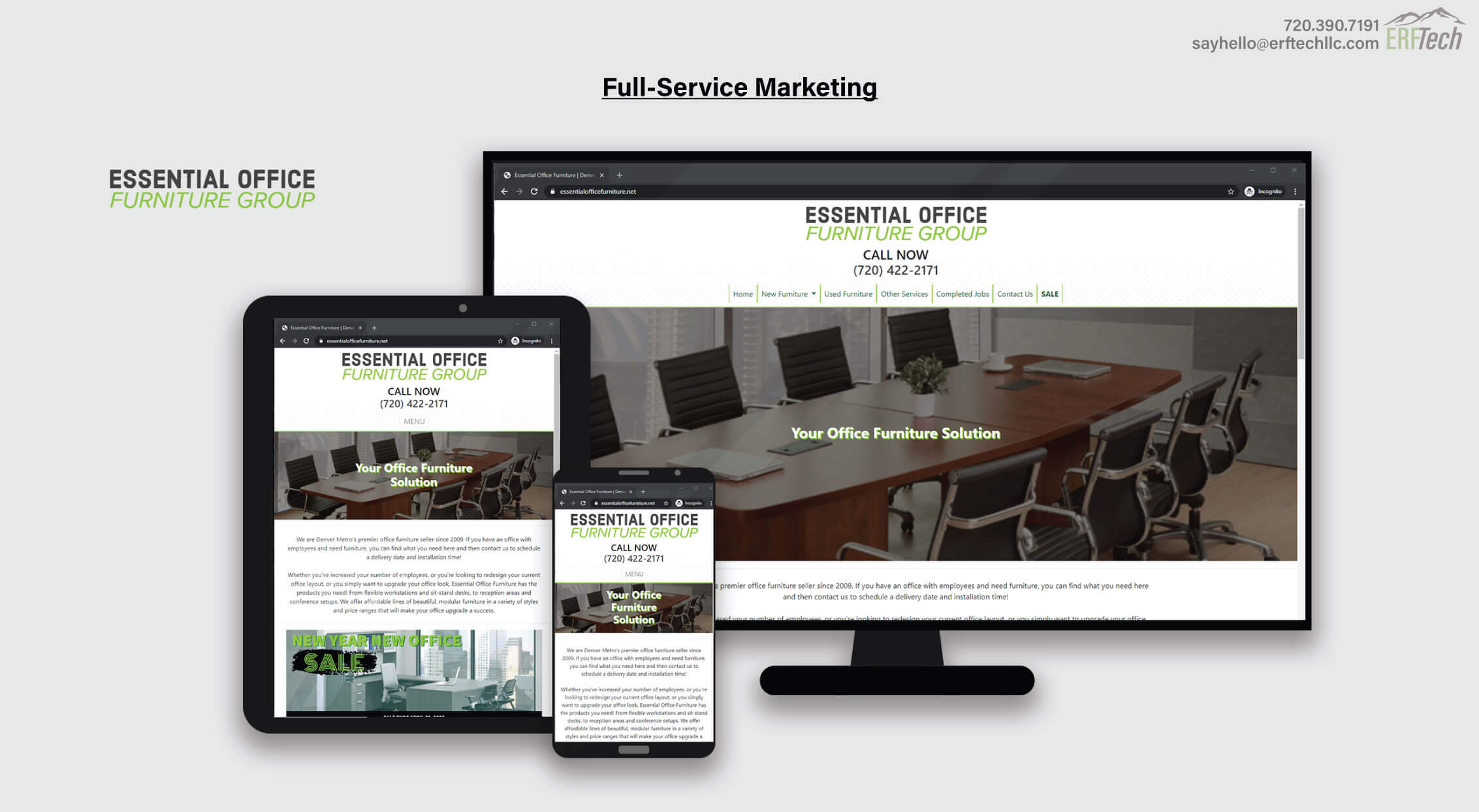 Website Management for Essential Office Furniture in Denver, CO