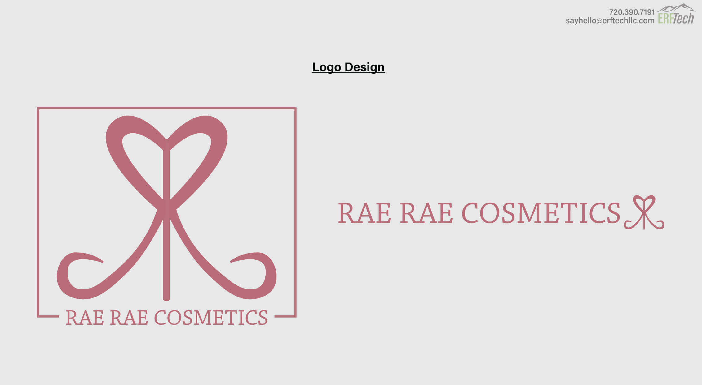 Logo Design for Rae Rae Cosmetics in Denver, CO