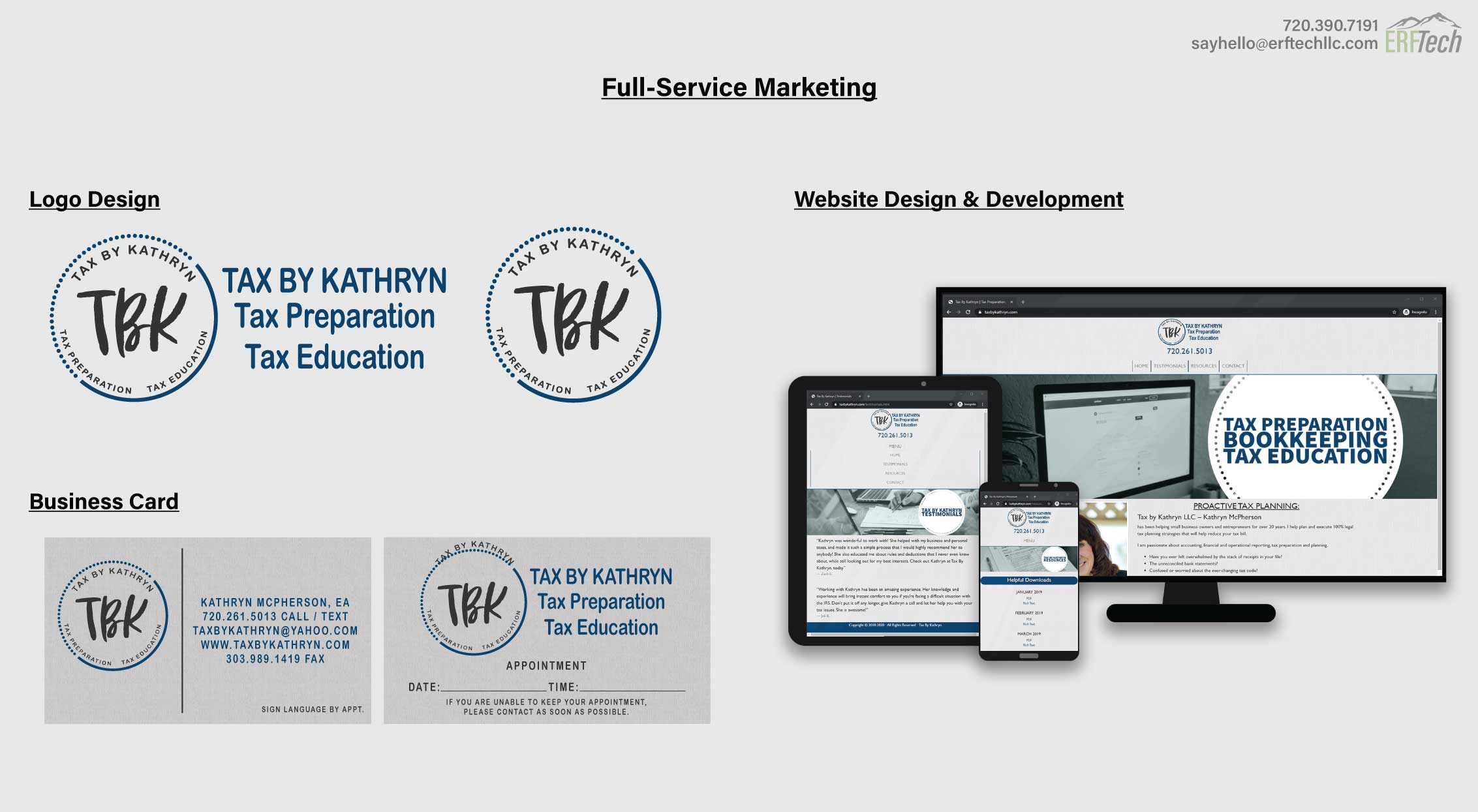 Full-Service Marketing for Tax by Kathryn in Lakewood, CO