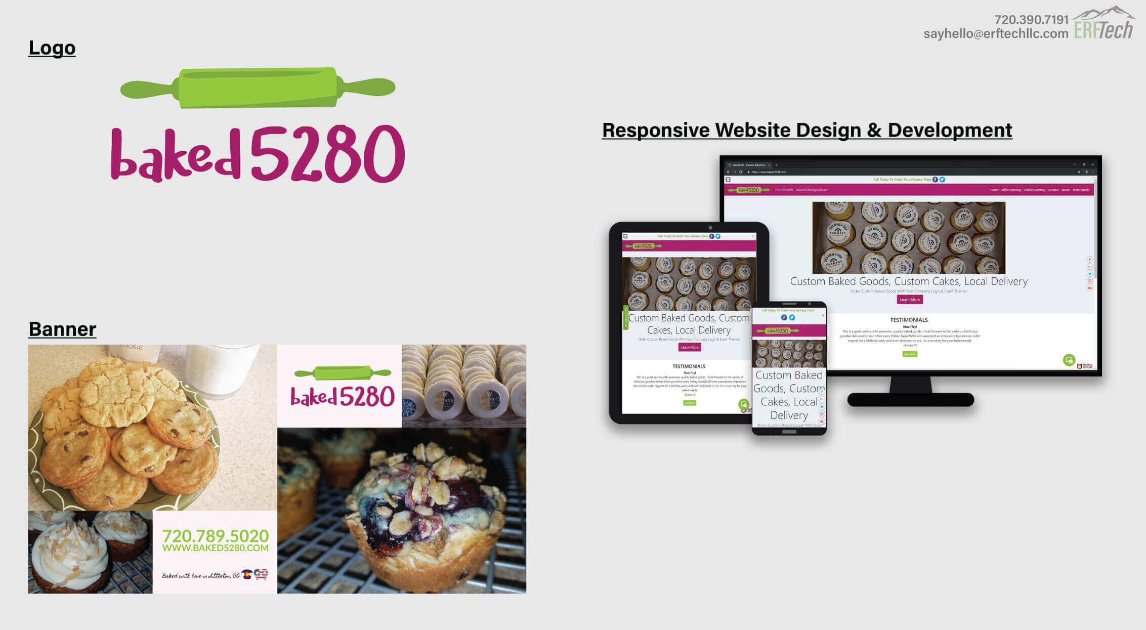 Full-Service Marketing for baked5280 in Littleton, CO