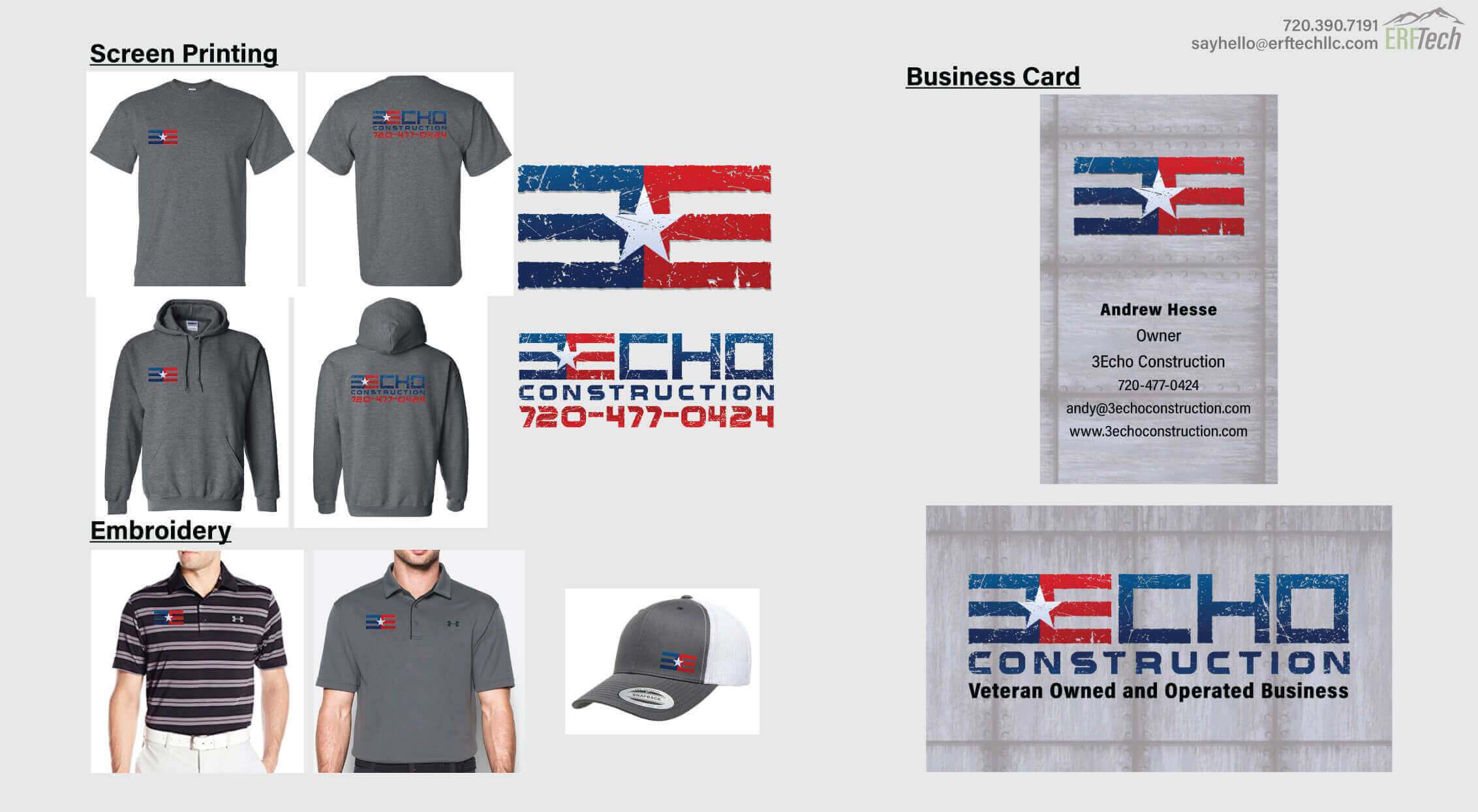 Business Card Design & Print for 3Echo in Denver, CO