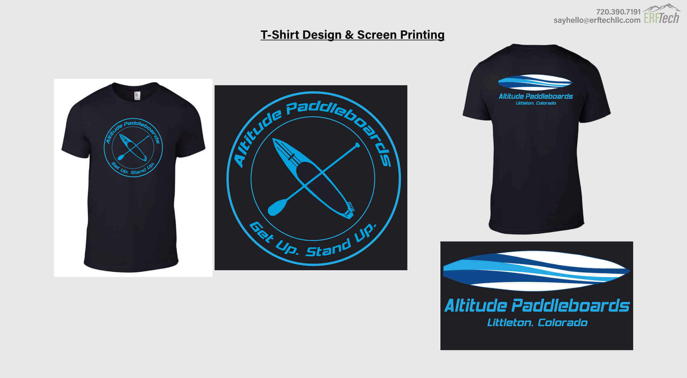 Shirt Design & Print for Altitude Paddleboard in Littleton, CO