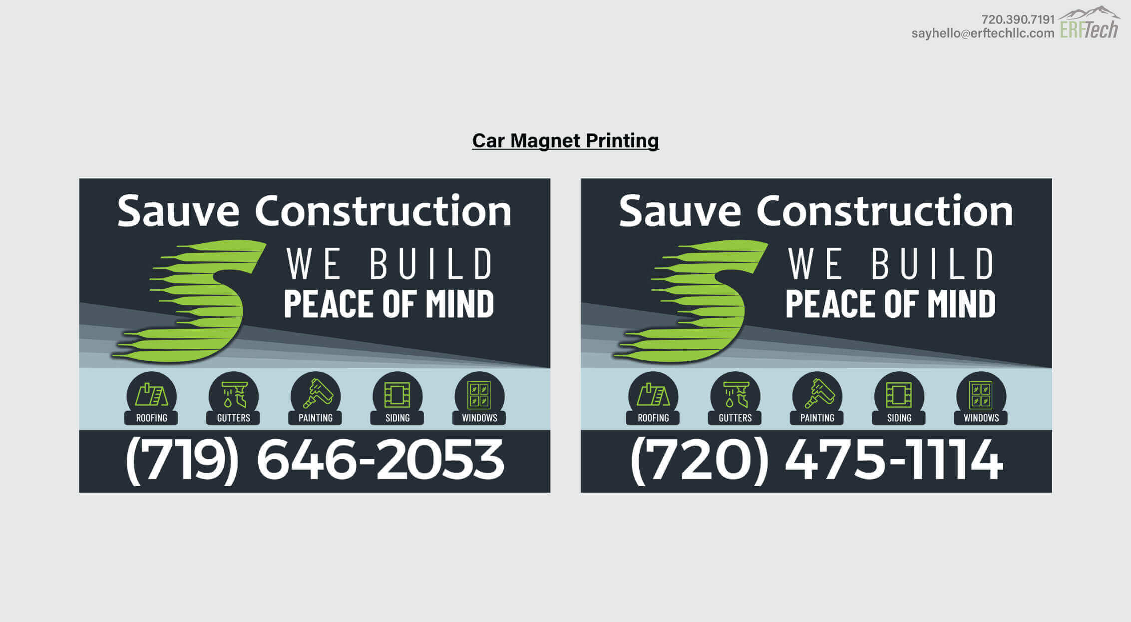 Magnet Print for Sauve Construction in Denver, CO