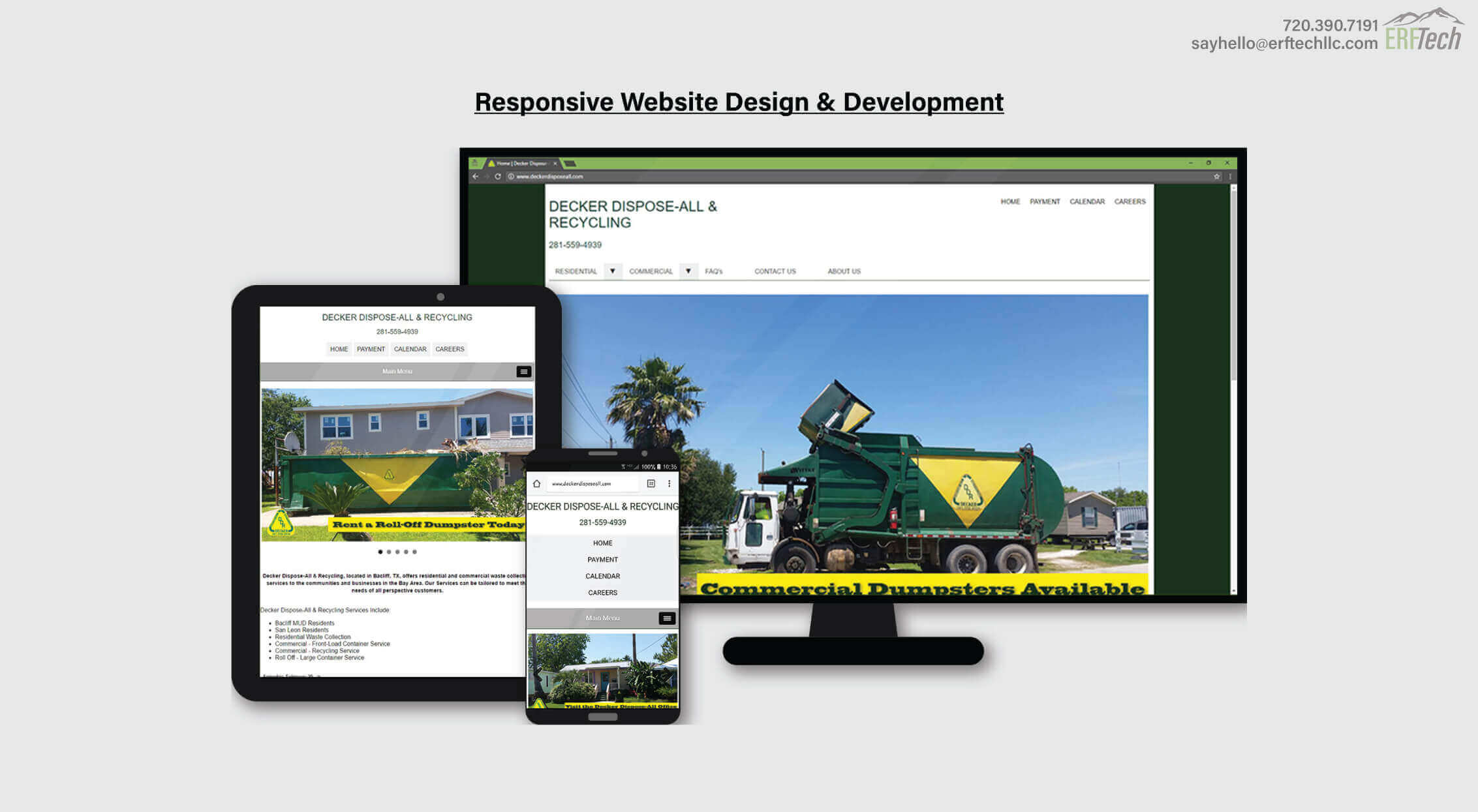Website Management for Decker Dispose-All & Recycling in Bacliff, TX